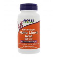 NOW Alpha Lipolic Acid 600mg 60к