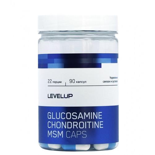 LevelUp Glucosamine Chondroitine MSM Caps 90к