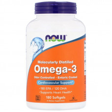 NOW Omega-3 Molecularly Distilled 180сг