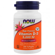 NOW Vitamin D3 5000IU 240сг