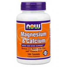 NOW Magnesium & Calcium 100т