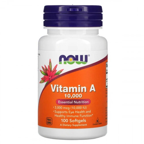 NOW Vitamin A 10000ME 100сг