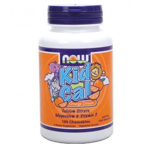 NOW Kid Cal 100 Chewables