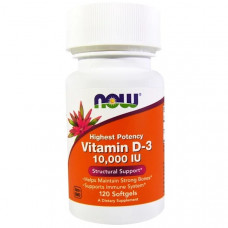 NOW Vitamin D3 10000IU 120сг