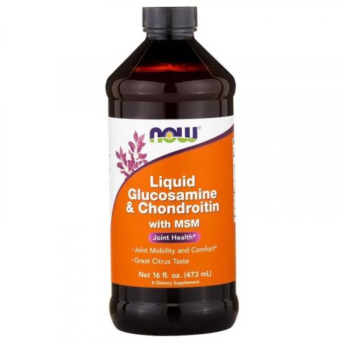 NOW Clucosamine & Chondroitine & MSM 473мл