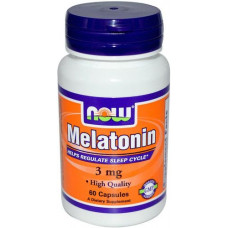 NOW Melatonin 3mg 60к