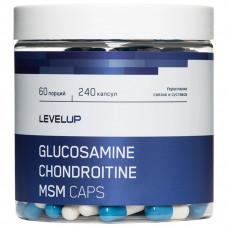 LevelUp Glucosamine Chondroitine MSM Caps 240к