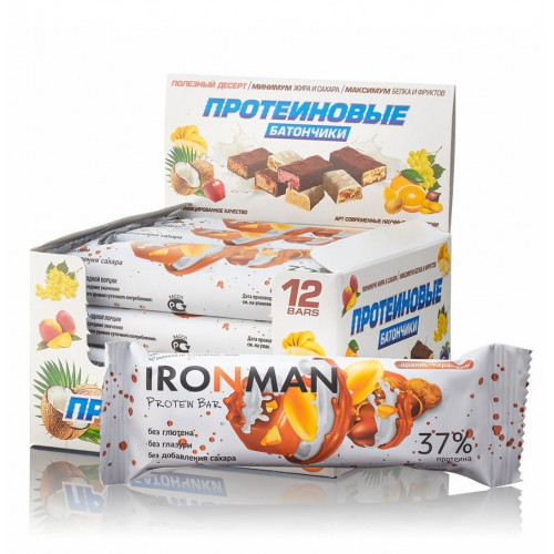 Ironman 34-37% Protein Bar б/г 50г