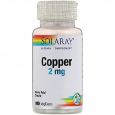 Solaray Copper 2mg 100к