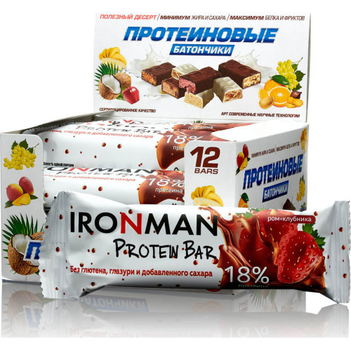 Ironman 18% Protein Bar б/г 50г