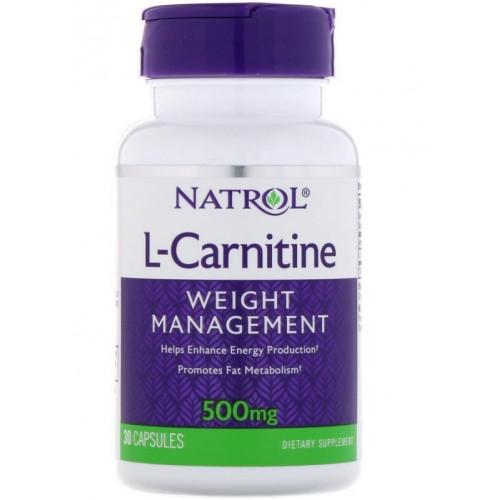 Natrol  L-Carnitine 500мг 30к