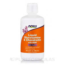 NOW Clucosamine & Chondroitine & MSM 946мл