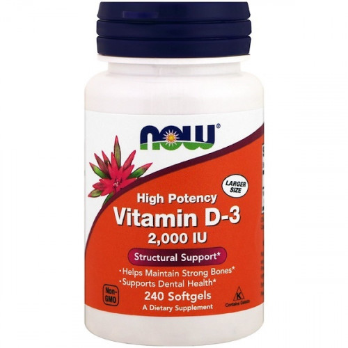 NOW Vitamin D3 2000IU 240сг